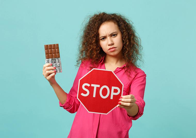 チョコレート注意