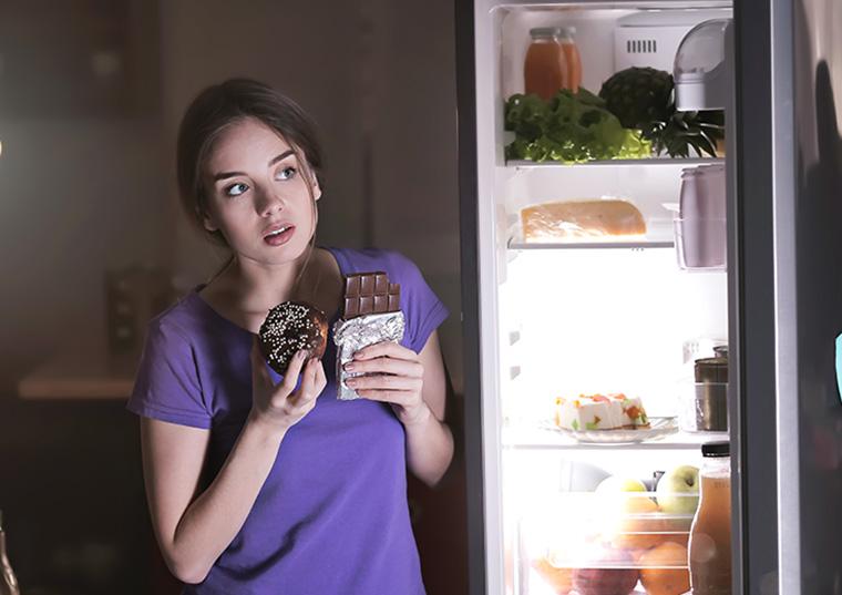 冷蔵庫のチョコ